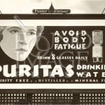 puritas drinking water advertisment 150x150 Water Cooler Bottles   Glass, Plastic and Art