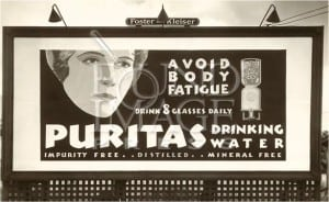 puritas drinking water advertisment 300x184 Arrowhead Puritas 19 litre glass water bottle (5 Gallon)