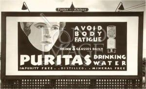 puritas drinking water advertisment 300x184 Arrowhead Puritas 19 litre glass water bottle (5 Gallon)