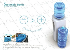 stackable bottle 300x212 Stackable 19 litre bottles   finally