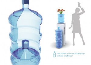 stackable bottle3 300x213 Stackable 19 litre bottles   finally