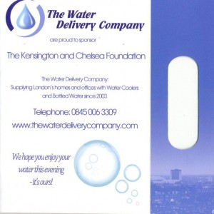 water delivery company sponsorship 300x300 Sponsorship for The Kensington and Chelsea Foundation