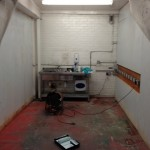 water cooler sanitisation area