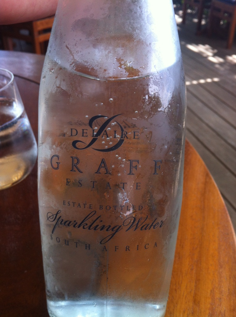 Delaire Bottled Water - Graff Wine