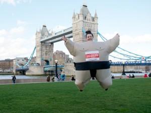 super sumos 300x225 Inflatable Sumo Suit Fun Run