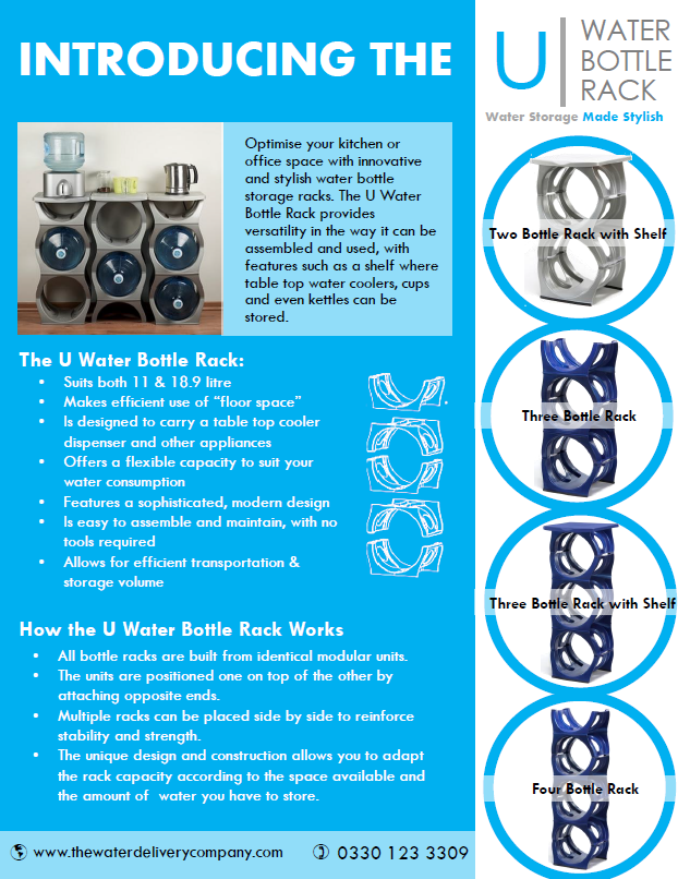 u water cooler bottle rack Water Cooler Bottle Racks