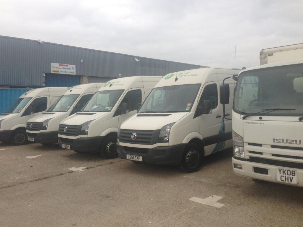 Our Fleet Of Vans The Water Delivery Company