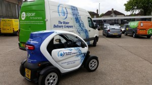 the water delivery company twizzy electric sanitisation vehicle 2 300x169 Renault Twizy now on the road