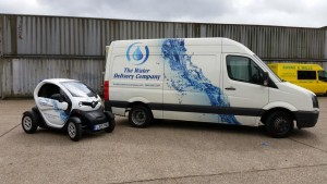 the water delivery company twizzy electric sanitisation vehicle 3 300x169 Renault Twizy now on the road
