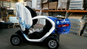 the water delivery company twizzy electric sanitisation vehicle 300x169 Renault Twizy now on the road