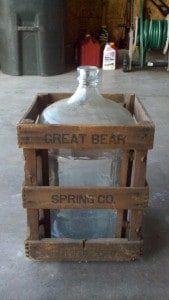 great bear water bottle and crate 169x300 Great Bear Spring Five Gallon Glass Water Bottle