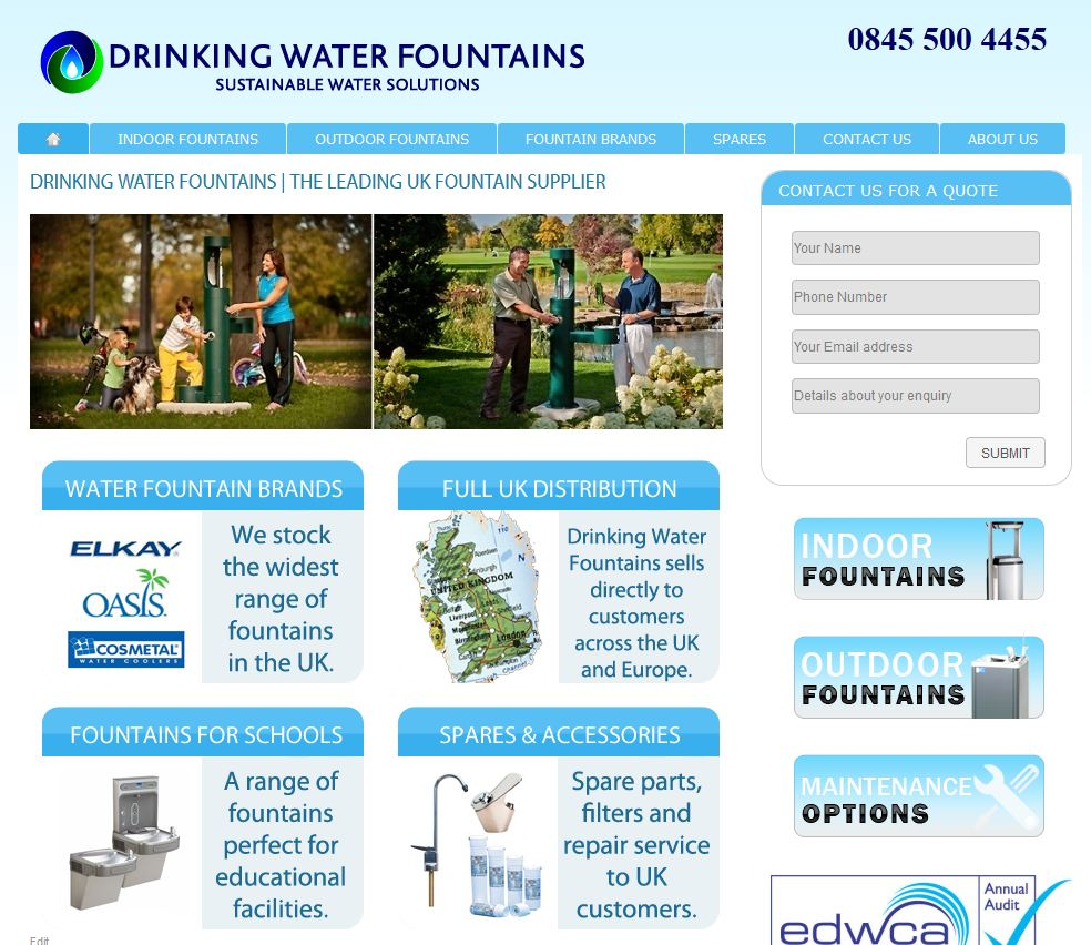 drinking water fountains website1 Drinking Water Fountains website launched
