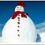 a giant snowman