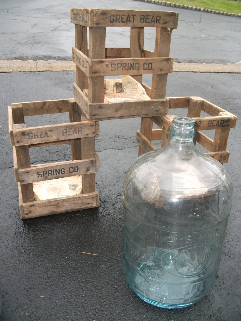 Great Bear Glass water cooler bottles - with crates
