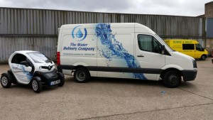 the water delivery company twizzy electric sanitisation vehicle 4 300x169 Renault Twizy now on the road