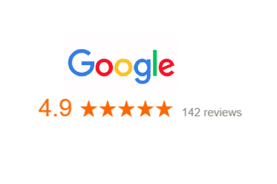 Great company rating on Google