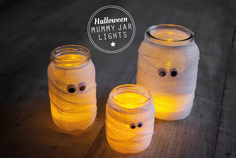 Mummy jars Go Green this Halloween!